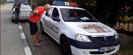 Inca un exemplu de soferi prosti facuti gramada cu care au de-a face politistii rutieri din Romania
