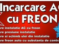 Incarcare cu freon AC auto R134a