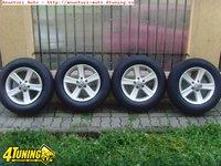 Jante aliaj ca Noi 5x112 pe 16 originale VW Tiguan cu anvelope iarna 215 65 16