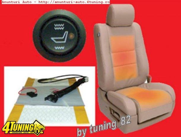 Kit incalzire scaune auto CARBON BUTOANE OEM 2 SAU 5 TREPTE Montaj Profesional In Toata Tara!!!