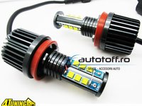 LED MARKER 120w BMW E60 SERIA 5 LCI - LEDURI H8 120w super bright !