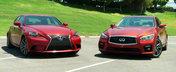 Lexus vs Infiniti: Noul IS350 F-Sport, fata in fata cu recent lansatul Q50 S