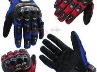 MANUSI MOTO ATV Pro Biker MX Short Marimi M L XL Rosu Albastru Negru Protectii Hard Plastic Dur