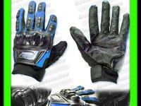 MANUSI MOTO MADBIKE cu Protectii Ventilate Hard Marimi M L XL Culori ALBASTRU