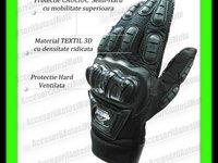 MANUSI MOTO MADBIKE cu Protectii Ventilate Hard Marimi M L XL Culori Negru