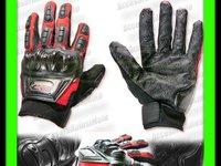 MANUSI MOTO MADBIKE cu Protectii Ventilate Hard Rosu M, L, XL