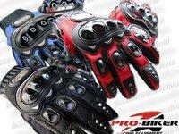 MANUSI MOTO PRO BIKER cu Protectii Hard Marimi M L XL Culori Rosu Albastru Negru Atv Cross Enduro