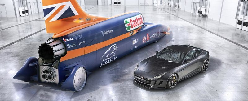 Masina care vrea sa atinga 1600 km/h are o pompa de benzina Jaguar de 542 cp