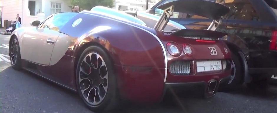 Momentul in care un Veyron refuza sa mai porneasca, blocand astfel intersectia