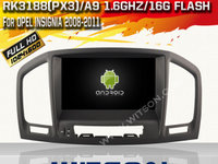 NAVIGATIE ANDROID DEDICATA OPEL INSIGNIA 2008-2013 WITSON W2-A6753L 3G WIFI QUADCORE 16GB WAZE