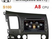 NAVIGATIE DEDICATA HONDA CIVIC SEDAN 2006 - 2011 EDOTEC ED-C044 PLATFORMA S100 DVD GPS TV DVR CARKIT