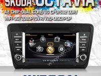 Navigatie Dedicata Skoda Octavia 3 2013 NAVD C279 Dvd Player cu Platforma S100 Dvd Auto Procesor Dual Core A8 1ghz 512 Ddr 2 Dvd Gps Tv Dvr Carkit Preluare Agenda Telefonica