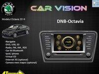 NAVIGATIE DEDICATA SKODA OCTAVIA 3 CAR VISION DNB GPS DVD CARKIT TV USB SD PLAYER