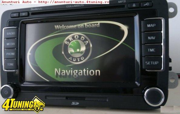 poze navigatie originala skoda columbus rns 510