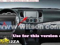 NAVIGATIE WITSON DEDICATA MITSUBISHI L200 INTERNET 3G WI FI DVD GPS CARKIT TV COMANZI PE VOLAN USB DIVX MODEL 2012