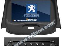 NAVIGATIE WITSON W2 C085 DEDICATA PEUGEOT 206 PLATFORMA S100 PROCESOR DUAL CORE A8 1GHZ 512 DDR 2 DVD GPS TV DVR CARKIT PRELUARE AGENDA TELEFONICA