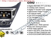 NAVIGATIE WITSON W2 C092 DEDICATA HYUNDAI ELANTRA 3 AVANTE PLATFORMA S100 PROCESOR DUAL CORE A8 1GHZ 512 DDR 2 INTERNET 3G WIFI DVD GPS TV DVR CARKIT PRELUARE AGENDA TELEFONICA MODEL 2014