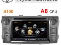 NAVIGATIE WITSON W2 C143 DEDICATA TOYOTA HILUX 2012 PLATFORMA S100 PROCESOR DUAL CORE A8 1GHZ 512 DDR 2 DVD GPS TV DVR CARKIT PRELUARE AGENDA TELEFONICA