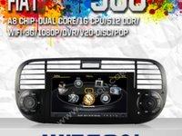 NAVIGATIE WITSON W2 C315 DEDICATA FIAT 500 PLATFORMA S100 PROCESOR DUAL CORE A8 1GHZ 512 DDR 2 DVD GPS TV DVR CARKIT PRELUARE AGENDA TELEFONICA MODEL 2014