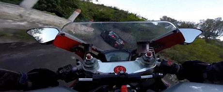 Nissan GT-R si Ducati 848 EVO se alearga pe serpentinele din Albania