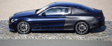 Noul Mercedes C-Class Coupe iese partial necamuflat pe strazile Europei