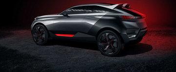 Noul Peugeot Quartz Concept e un crossover hibrid cu 500 CP sub capota