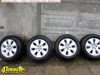 Ocazie set de 4 jante de aliaj pe 16 originale Audi A6 2012 3 0 sau Audi A6 All Road 5x112 cu tot cu anvelope de iarna marimea 225 60 R16 la doar 600 EURO