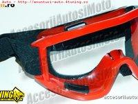 Ochelari MOTO ATV Flexi 360 Culori Negru Rosu Albastru