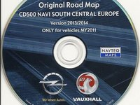 OPEL CD500 Dvd harta navigatie OPEL CD500 Romania 2014