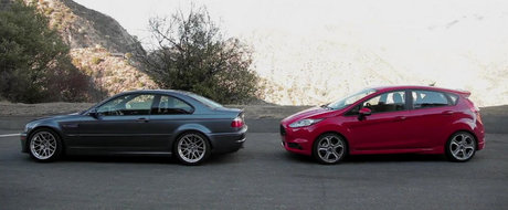 Pariul de 25.000 dolari: Ford Fiesta ST versus BMW M3 E46. Tu ce alegi?