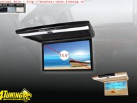 Plafoniera Auto Cu Monitor Led 15 6 Inch Rezolutie Full Hd 1080p Model JVJ AV1507 FL Usb Sd Hdmi Player Intrare Audio Video Aux Montaj Calificat In Toata Tara