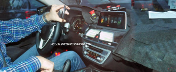 POZE Spion: Noul BMW Seria 7 ne arata pentru prima oara interiorul sau
