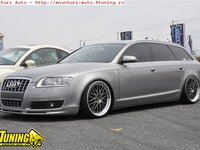 Prelungire bara fata spoiler fusta Audi A6 C6 4F 2005 2009 fara facelift votex ver 2