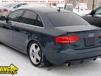 Prelungire difuzor adaos fusta spoiler bara spate Audi A4 B8 sedan Sline S Line RS4 S4 sedan 2008 - ver. 3 - pentru dubla evacuare