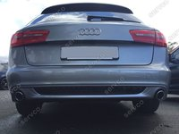 Prelungire difuzor bara spate Audi A6 4G C7 2011 – 2014 ABT Sline Avant