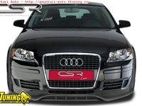 Prelungire Prelungiri Spoiler Sub Bara Fata Audi A3 8P 8PA 2005 2008 material ABS FA062