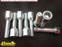 Prezoane Lungi Tip Tuner System Pt Jante Aliaj Cap Imbus 12x1 5/14x1.5 Parte Filetata 45 Mm