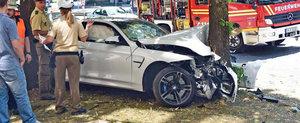 Primul accident cu noul BMW M4. Masina este dauna totala