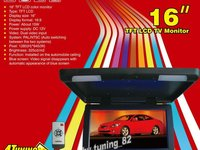 PROMOTIE ! Monitor Plafoniera Auto Lcd 16 '' Usb Sd Player Divx Tv Model 2013