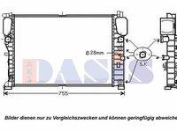 Radiator (apa) racire motor Mercedes-Benz 120094N