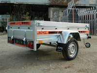 Remorca auto 750 kg Boro Agro basculabil 205x122 cm ( suspensie cu arcuri )