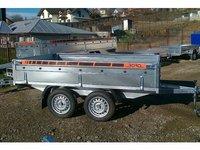 Remorca auto 750 kg Boro BH punte tandem, dimensiune 300X150 cm