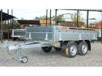 Remorca auto 750 kg Boro BH punte tandem, dimensiune 250x150 cm