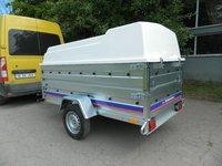 Remorca auto 750 kg carosata cu capac Niewiadow dimensiuni 244x126 cm