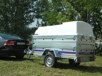 Remorca auto carosata 750 kg Niewiadow dimensiuni utile 204x115 cm