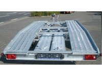 Remorca platforma auto transport vehicule Boro Adam 2700Kg, dimensiune utila de 5000 x 2000 mm