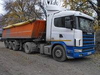 Scania R 420,  cu Semiremorca Meiller