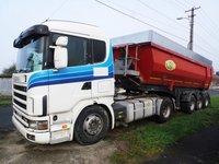 Scania R164 Camion Basculanta Cap Tractor + Semiremorca Basculabila
