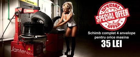 Schimba-ti anvelopele de iarna cu cele de vara pentru doar 35 de lei!