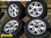 Set 4 Jante Aliaj 15 4x100 Originale BMW E30 compatibile Opel Gm Vectra Omega Astra H etc Cu sau fara Cauciucuri 195 60 R15 vara
